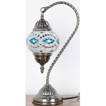 Turkish Mosaic Electric Lamp Swan Neck - WORLD OF DECOR