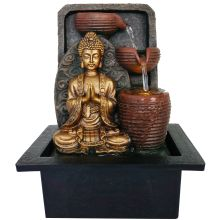 Buddha Gold 3 urn Water Feature - WORLD OF DECOR