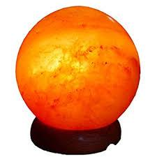 Sphere Himalayan salt lamp - WORLD OF DECOR