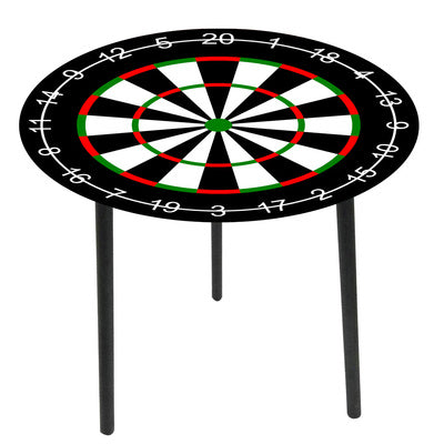Glass top side tables-Dart board - WORLD OF DECOR