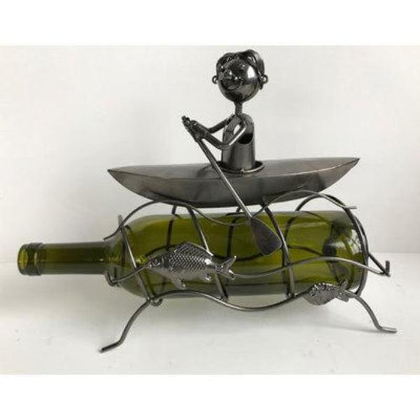 KAYAK NOVELTY WINE BOTTLE HOLDER - WORLD OF DECOR
