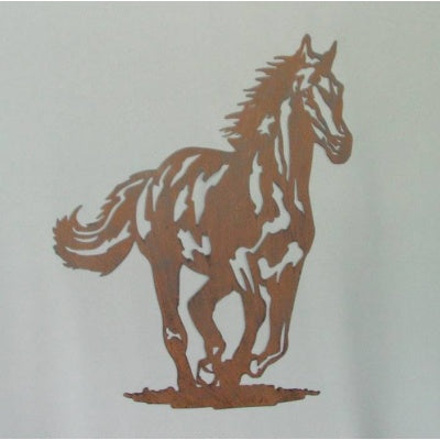 Galloping horse rust color wall decor - WORLD OF DECOR