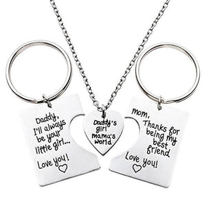 Daddy's Girl Mama's World Necklace