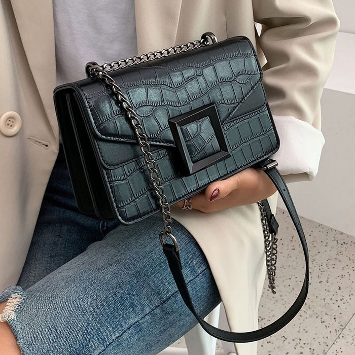 Luxury Designer PU Leather Crossbody Chain Bag