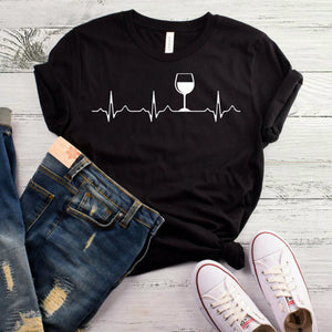 Wine Heartbeat T Shirt
