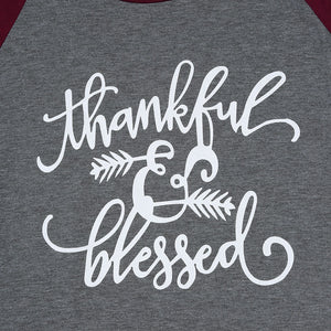 Thankful & Blessed T Shirt