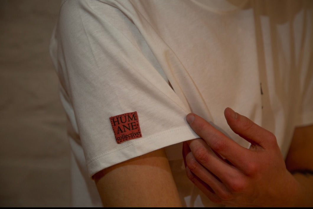 Mission Shirt White - Humane Collective