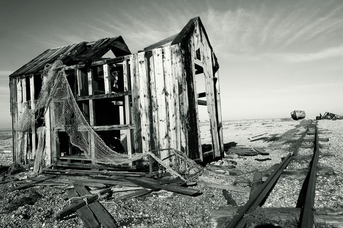 Fishing Hut Skeleton, Dungeness, Kent