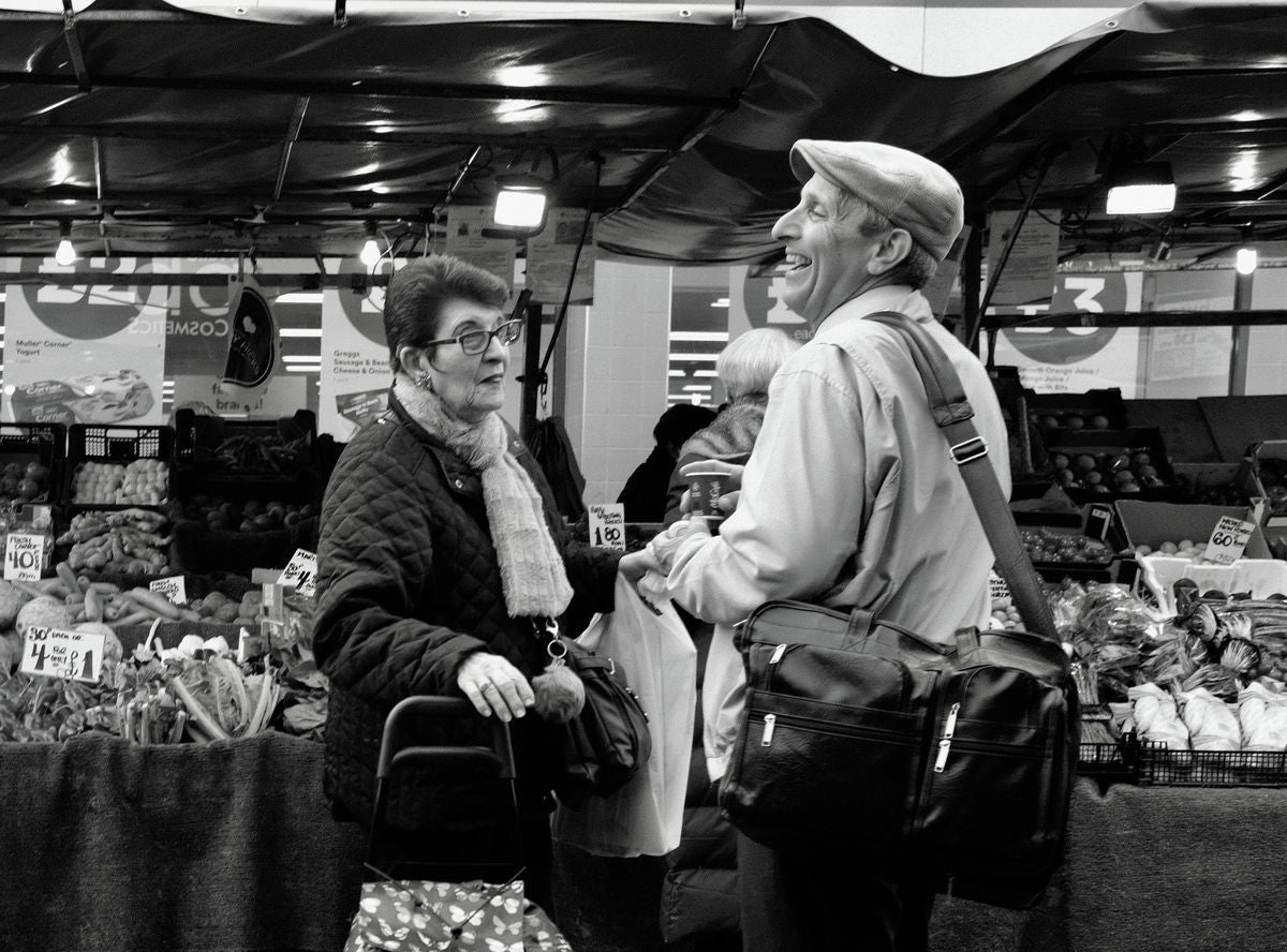 Laughter, Chapel Market, Islington