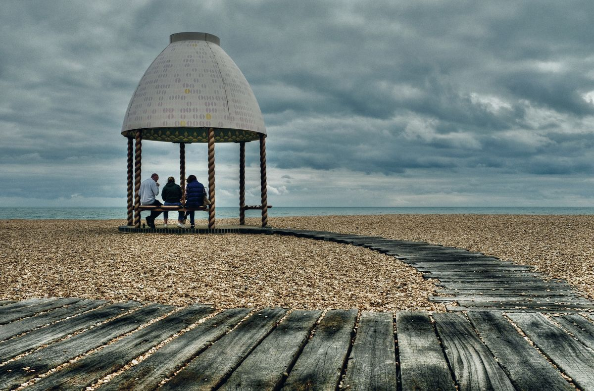 Beach Shelter, Folkestone Beach, Kent
