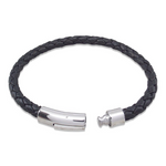 Nappa leather black bracelet