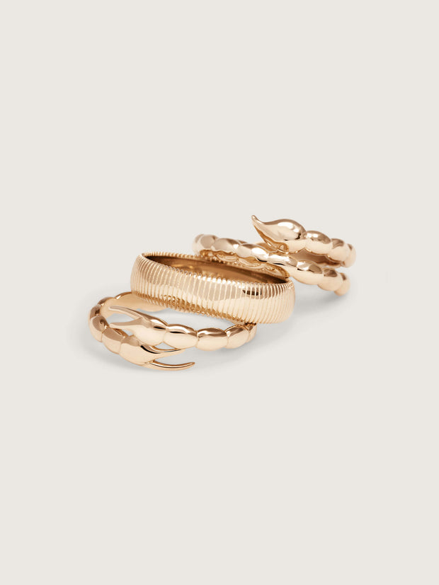 Doublemoss Jewelry 14k Gold Cuerpo Ring from the Skorppio Collection