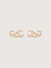 Doublemoss Skorppio 14k Gold & Pear Diamond Earrings. Passion and power these scorpion earrings will make a bold statement wherever they go.