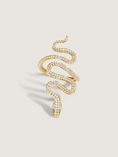 Doublemoss Vibora Snake Ring with 287 Brilliant Cut Diamonds.