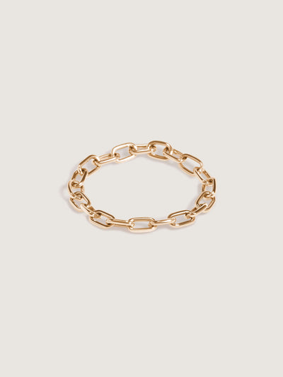 Doublemoss Catena Chain Ring seen here in 14k Yellow Gold