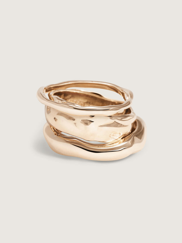 Doublemoss Olas Shore collection in 14k Gold