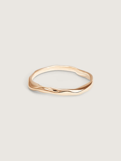 Doublemoss Olas Shore Ring in 14k Gold
