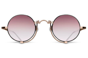 Rose Gold Matte Black w/ Rose Gradient 10601H Matsuda Sunglasses ABC Glasses