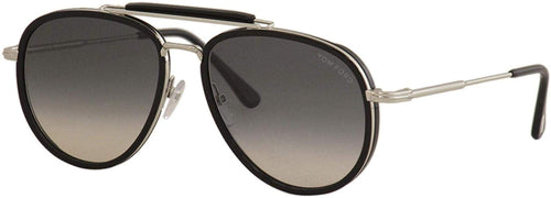 Tom Ford Sunglasses -  FT 0666 Tripp 01B Shiny Black