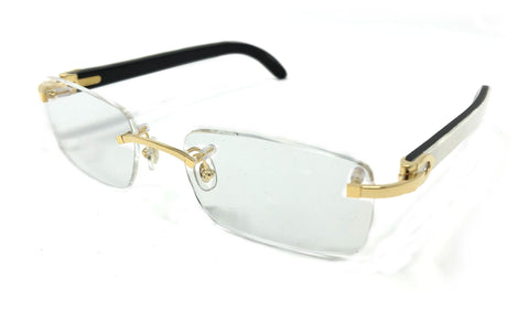 Cartier C Décor CT0052O Glasses - White Horn