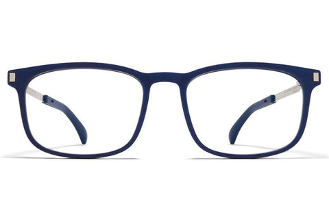 MH10 Navy Blue/Shiny Silver Elm Frame Mykita Mylon ABC Glasses