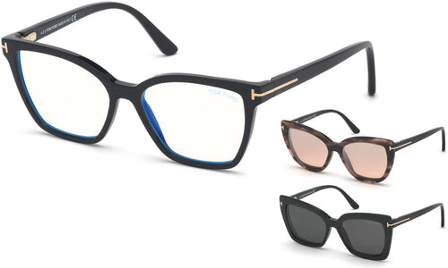 Tom Ford ft5641 Womens Eyeglasses with sun clips | ABCGlasses.com