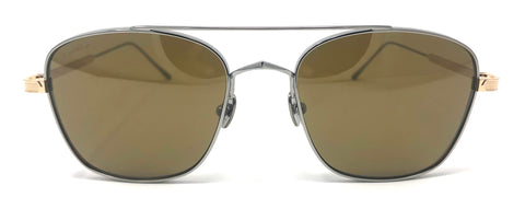 Cartier C Décor CT0163S Sunglasses - Ruthenium/Gold