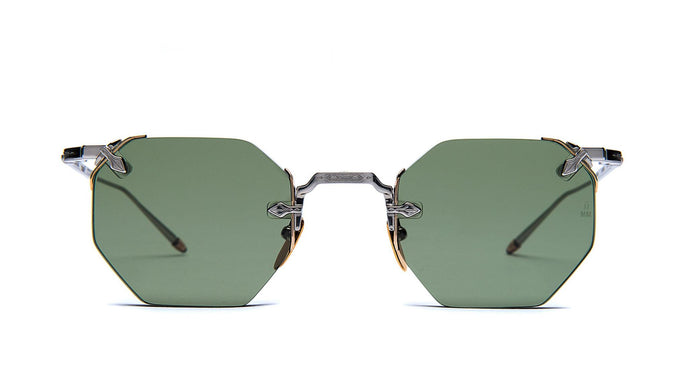 Jacques Marie Mage El Dorado Antique Silver w/ Vintage Green lenses Sunglasses ABC Glasses