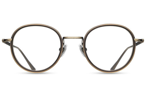 Antique Gold Matte Taupe M3063 Matsuda Eyewear ABC Glasses
