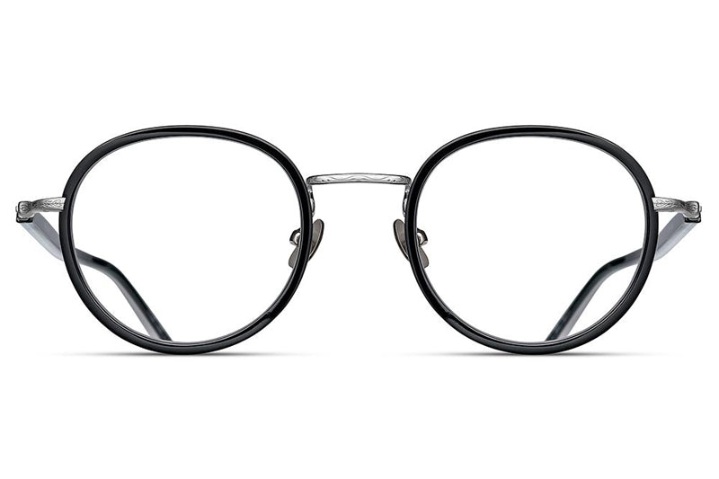 Black / Brushed Silver M3076 Matsuda Eyewear ABC Glasses