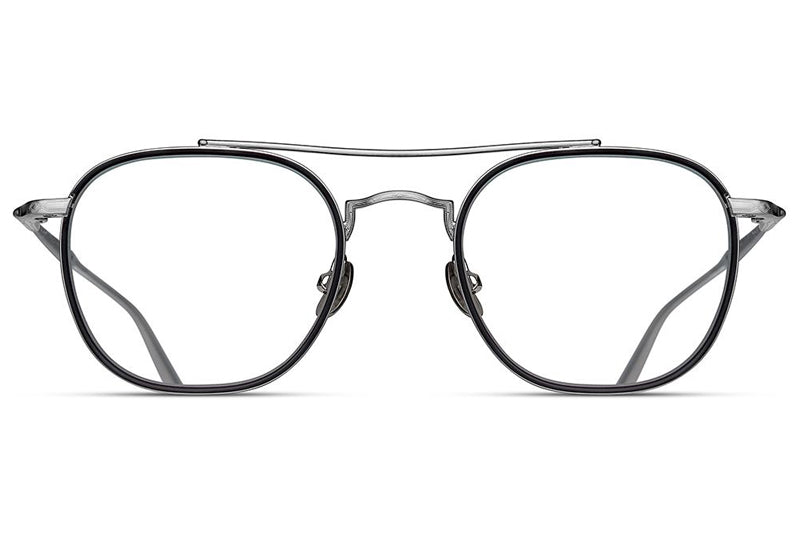 Brushed Silver / Matte Grey Crystal M3077 Matsuda Eyewear ABC Glasses