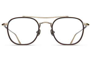 Antique Gold / Matte Taupe M3077 Matsuda Eyewear ABC Glasses
