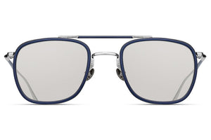 Brushed Silver / Matte Navy M3081 Matsuda Sunglasses ABC Glasses