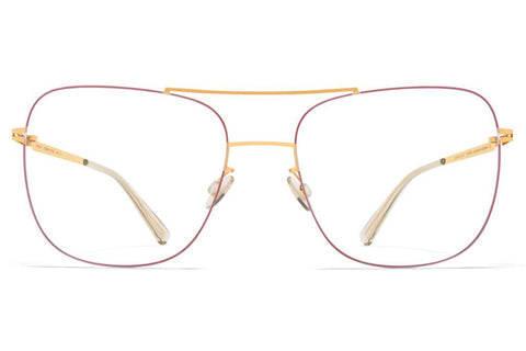 Gold/Coral Red Ryoko Lessrim Mykita Optical ABC Glasses