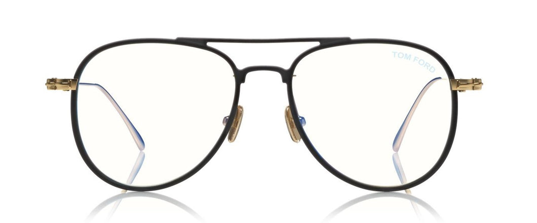 Tom Ford TF5666 002 Matte Black Aviator Eyeglasses ABC Glasses