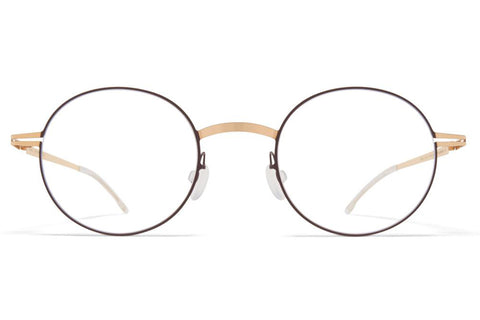 Champagne Gold/Dark Brown Yorin Mykita LITE Optical ABC Glasses