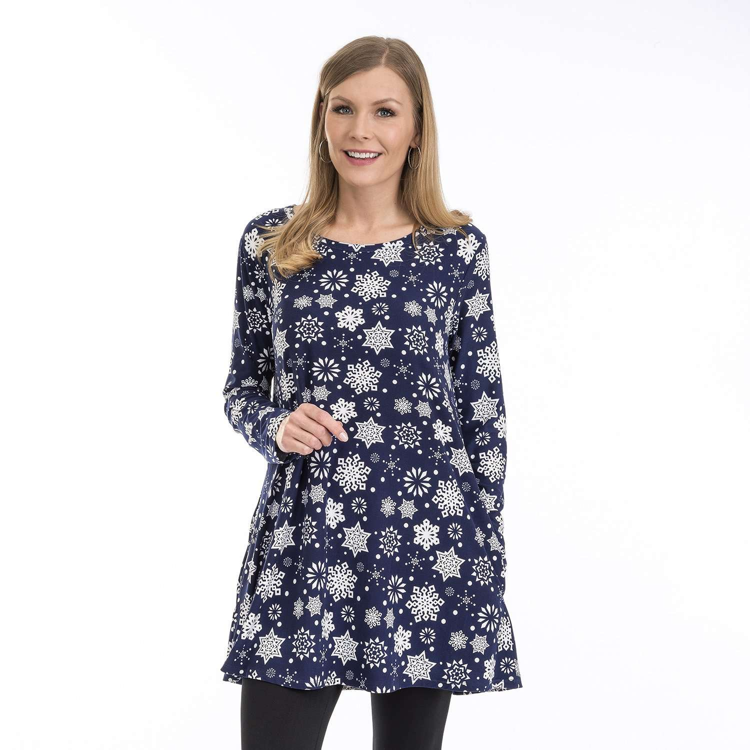 Apparel - Snowflake Long Sleeve Tunic