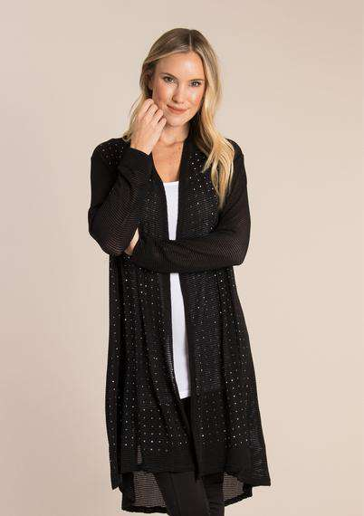 Apparel - Studded Open Knit Cardigan
