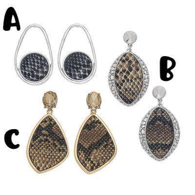 Jewelry - Animal Print Earrings - 3 Styles
