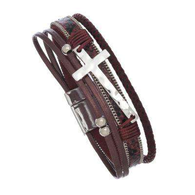 Jewelry - Cross Bracelets With Magnetic Clasp - 5 Colors