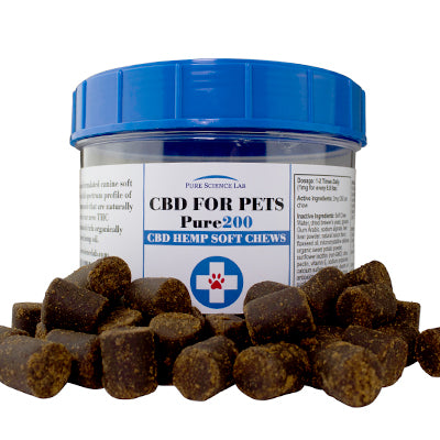 Pure Science Lab CBD for Pets Combo - Pet Tinture and 60 ct. Chews