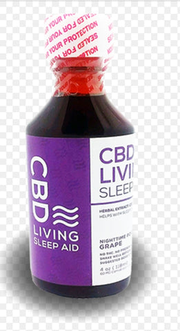 Living CBD PM Syrup Grape Flavor 120 mg CBD