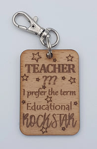 """Educational Rockstar"" Keyring"