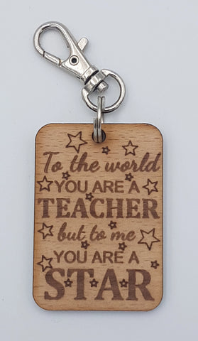 """Star Teacher"" Keyring"