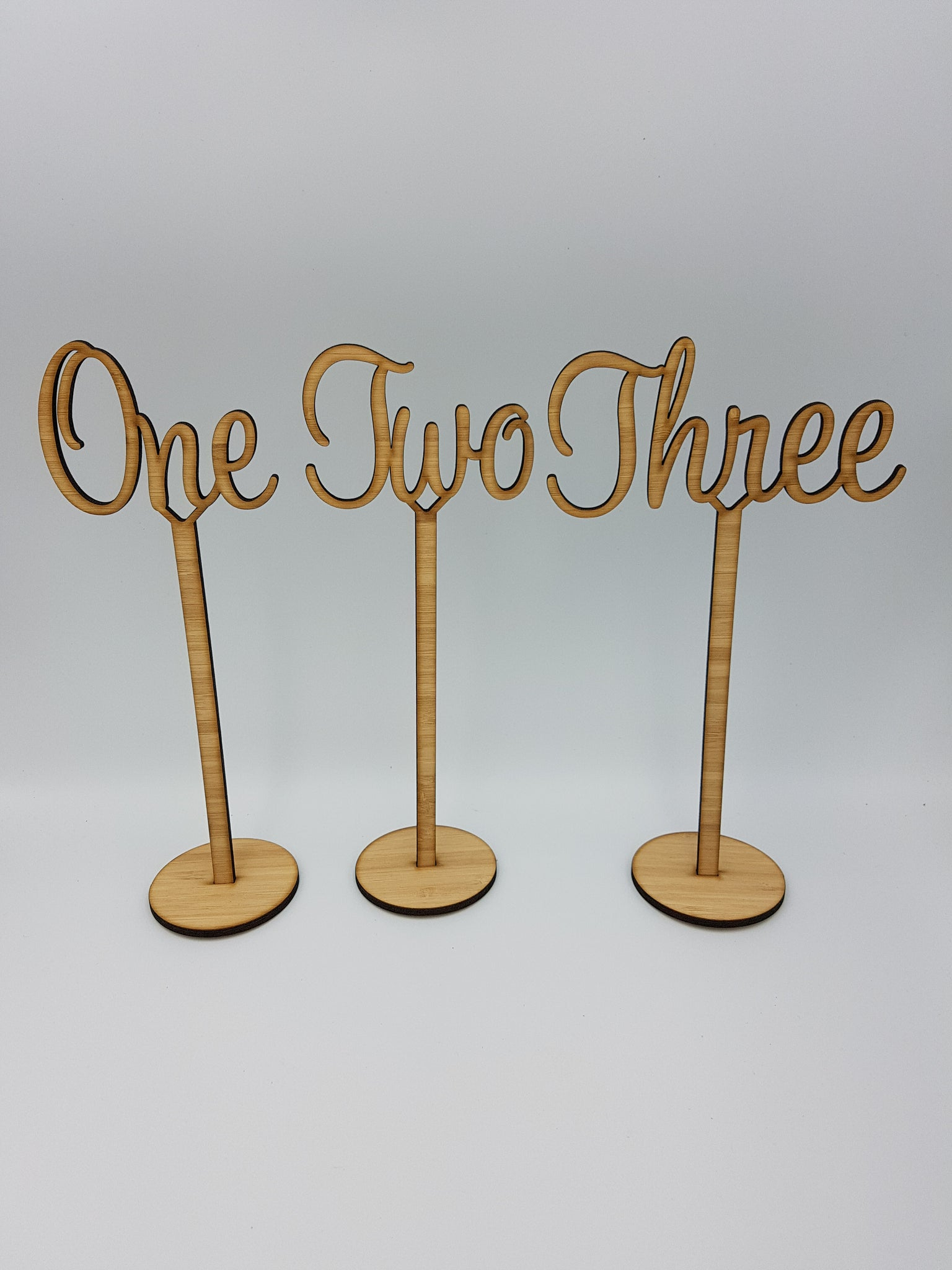 Wedding Table Numbers on Stand