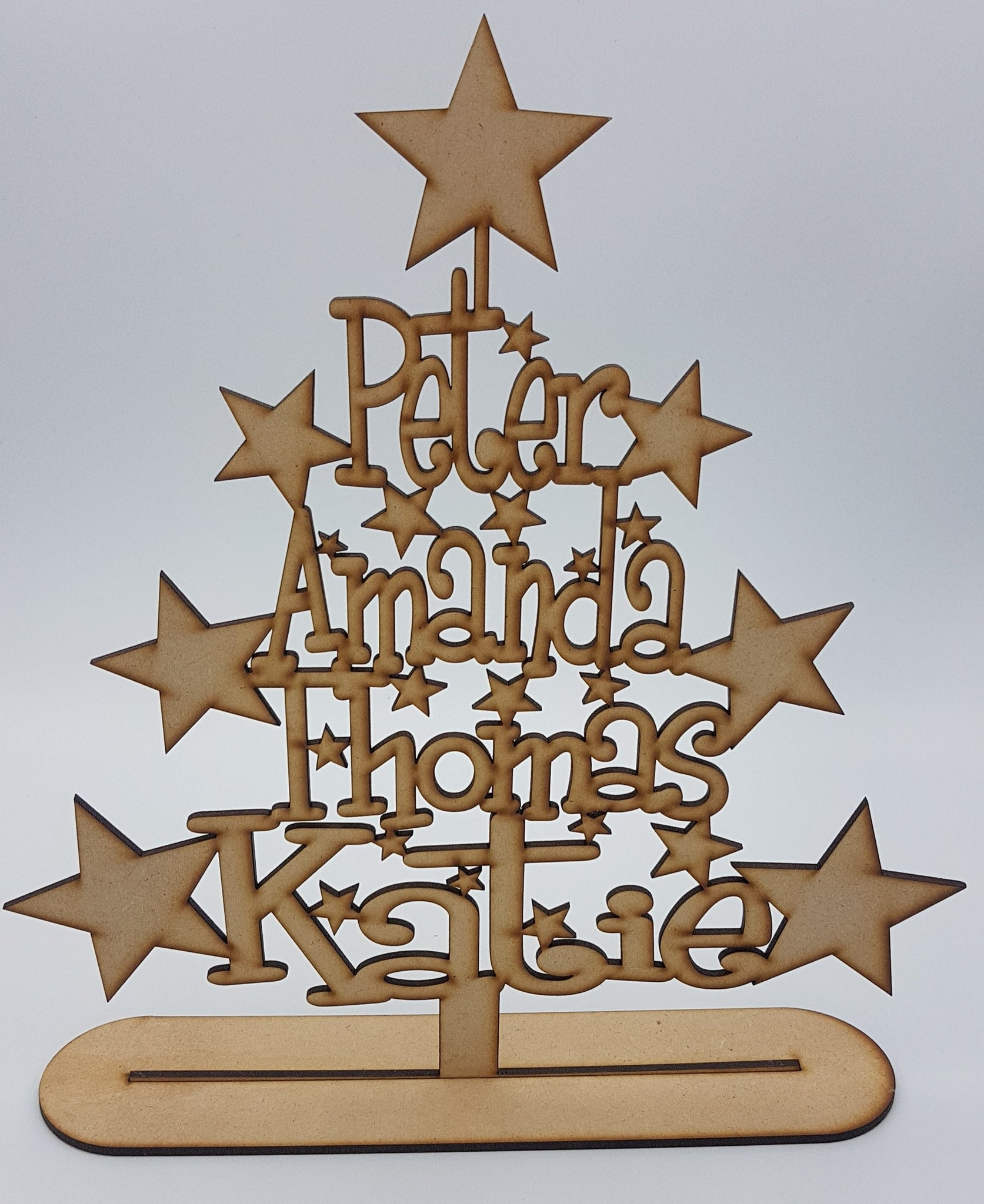 Personalised Wooden Christmas Trees