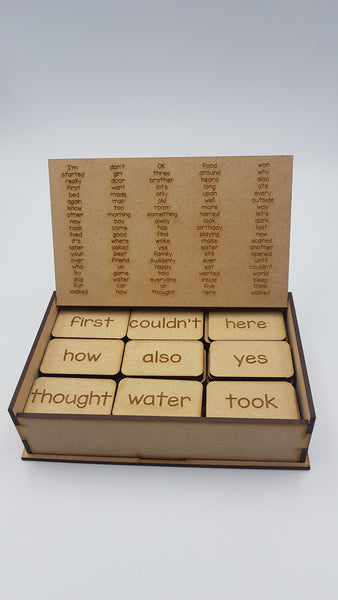 Wooden Word Tile Set  -  101-200 Oxford most frequently used words