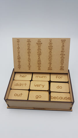 Wooden Word Tile Set - 1-100 Oxford most frequently used words