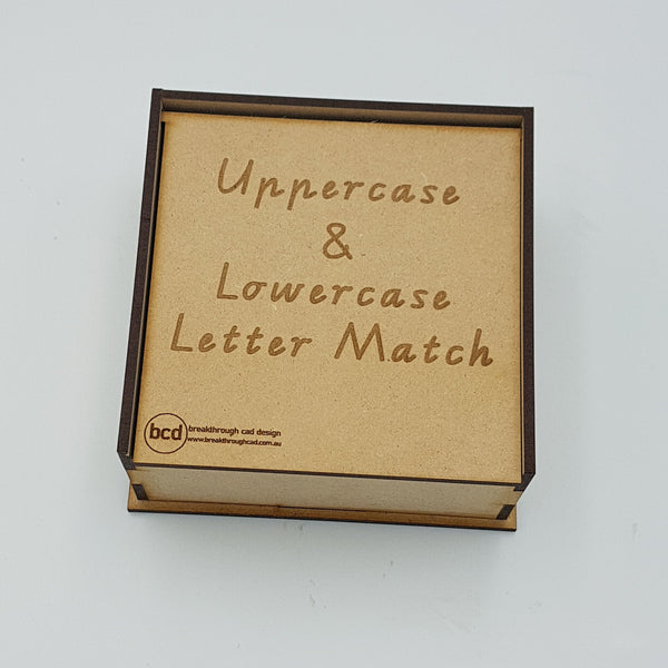 Uppercase and Lowercase Letter Match - Tile Set with storage box