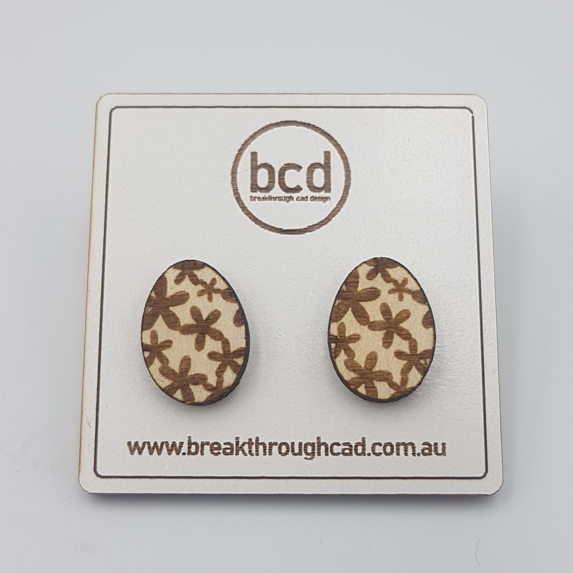 Easter Earrings - Laser Cut and Engraved Wood